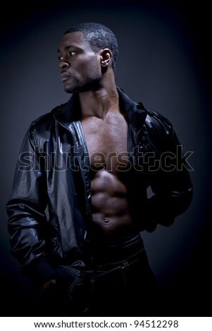 Muscular male - stock photo