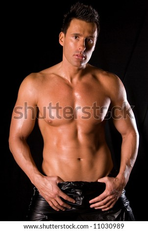 Muscular man. - stock photo