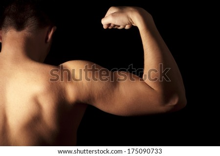 Muscular young man  - stock photo