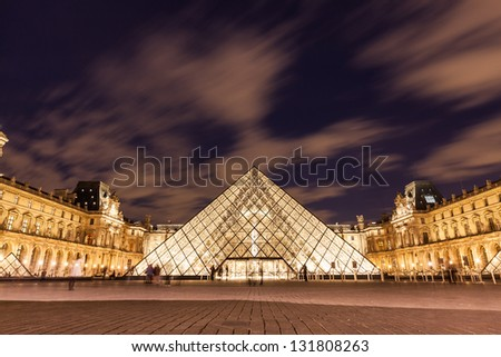 Musee du Louvre - stock photo