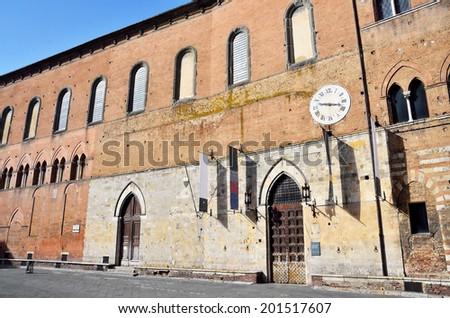 museum complex of Santa Maria scala, Siena, Tuscany, Italy - stock photo