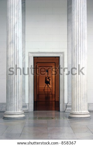 Museum Interior - stock photo
