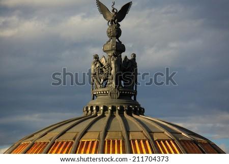 Museum of fine arts in Mexico city Palacio Del Belles Artes stat - stock photo