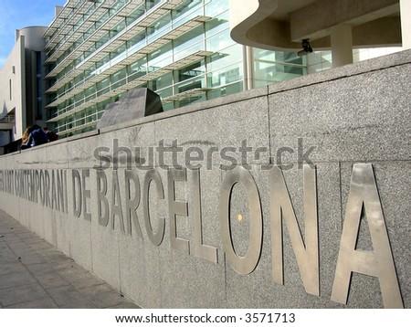 Museum of Modern Art, Museu d'Art Contemporani de Barcelona - stock photo