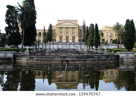 Museum Paulista, important museum with independence history of brazil - stock photo
