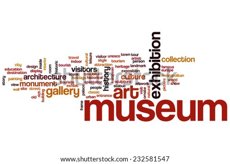 Museum word cloud concept - stock photo