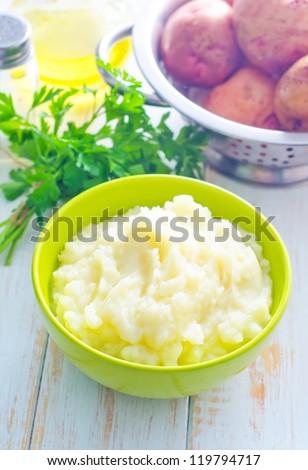 mushed potato - stock photo