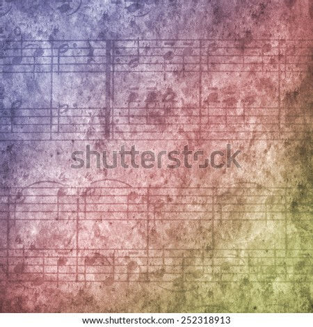 Music background concept with notes - stock photo