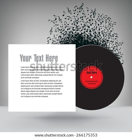 Music Background with White Space for Text - stock photo