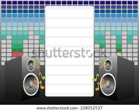 Music card - stock photo