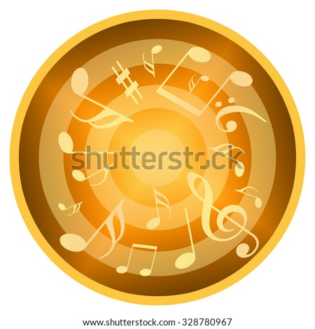 Music circle - stock photo