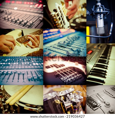 music concept of different images - stock photo