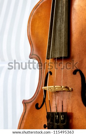 Music concept with violin - stock photo