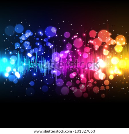 Music equalizer wave - stock photo