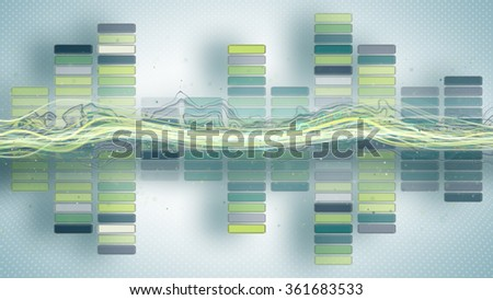music equalizer with curves abstract illustration  - stock photo