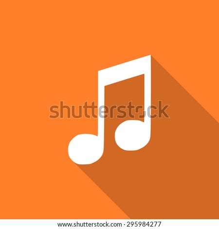 music flat design modern icon with long shadow for web and mobile app  - stock photo