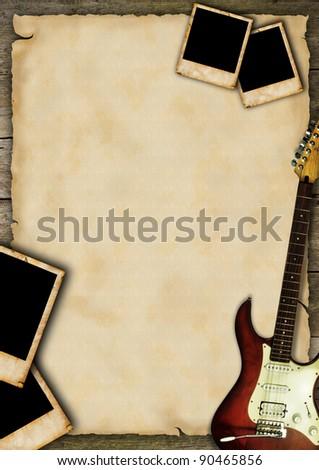Music grunge poster - stock photo