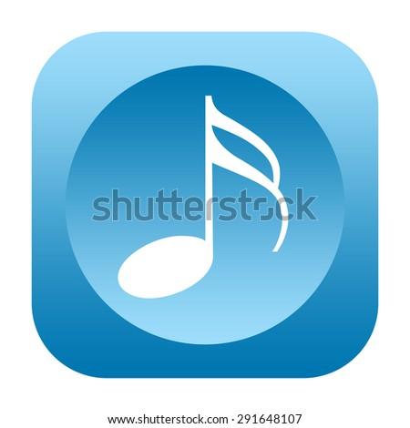 Music icon - stock photo