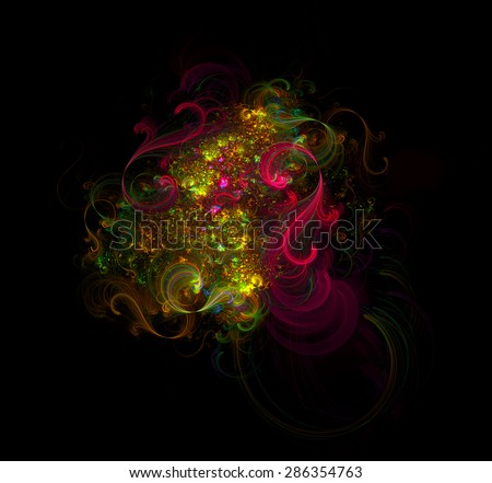 Music in motion abstract illustration - stock photo