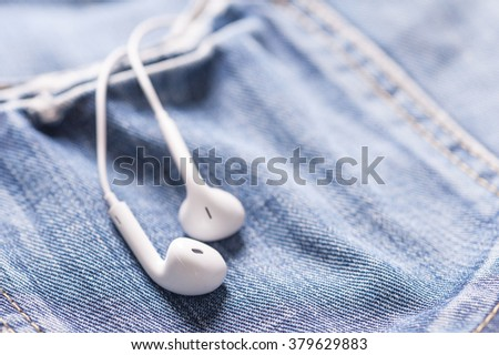 Music in pocket - stock photo
