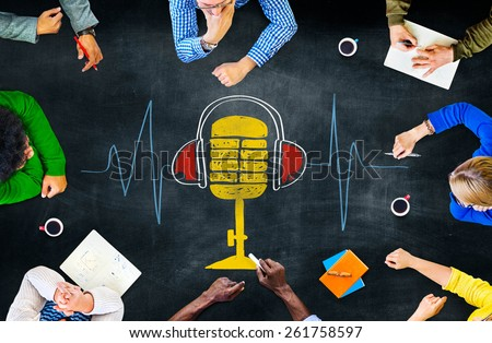 Music Multi Media Microphone Entertainment Concept - stock photo