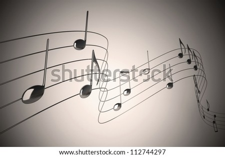 Music notes - Isolated on Neutral Background - stock photo