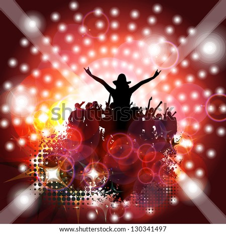 Music poster background - stock photo