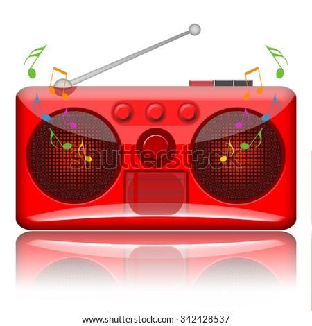 Music radio - stock photo
