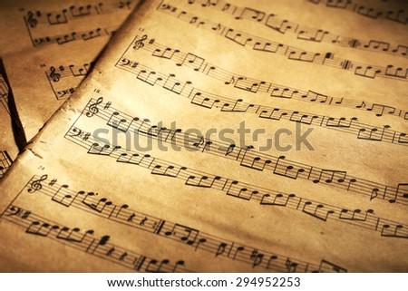 Music sheets background - stock photo