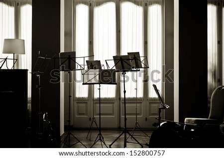 Music Stands - stock photo