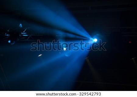Music Style Light show on dark background  - stock photo