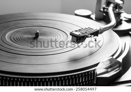Music turntable - stock photo