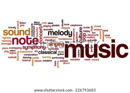 Music word cloud concept - stock photo