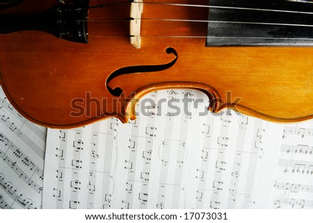 Musical background â?? instruments. Shot in studio. - stock photo
