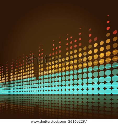 musical background with lines in retro style - stock photo