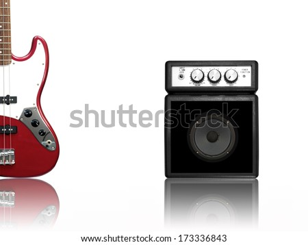 Musical equipment isolated against a plain background - stock photo