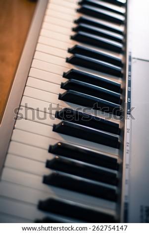 Musical Keyboard - stock photo