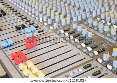 Musical mixer  - stock photo