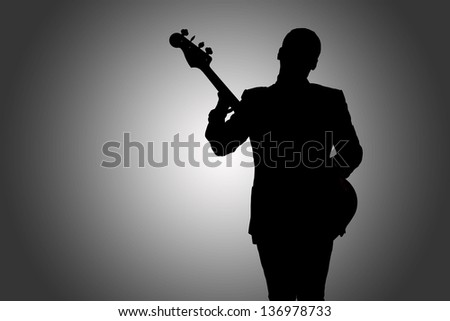 musician playing instrument - stock photo