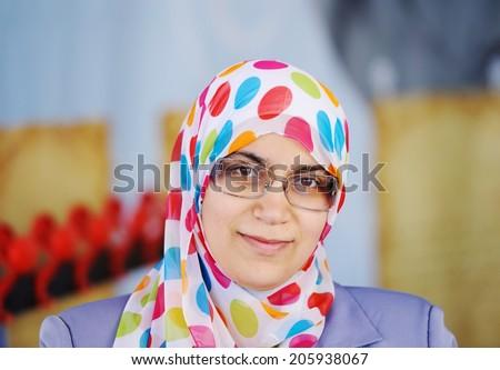 Muslim Arabic woman - stock photo