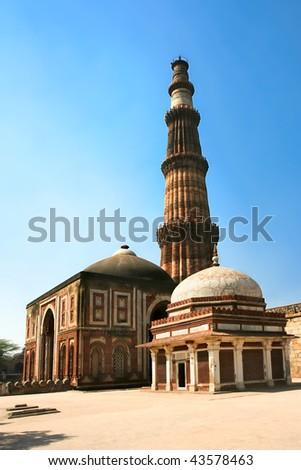 Muslim Column, Qutb Minar, new Delhi, India. - stock photo