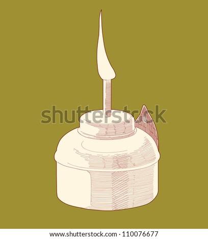 Muslim Oil Lamp - Pelita - stock photo