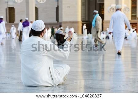 Muslim praying - stock photo