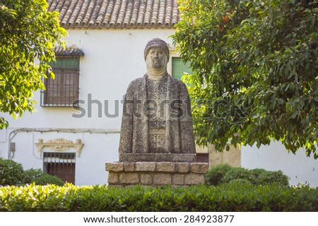 muslim statue in cordoba - stock photo