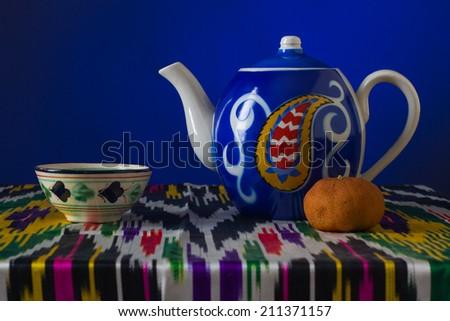 Muslim still life with tea. - stock photo