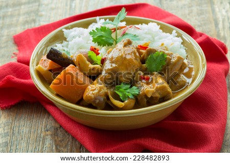 Mussaman curry thai spice food - stock photo