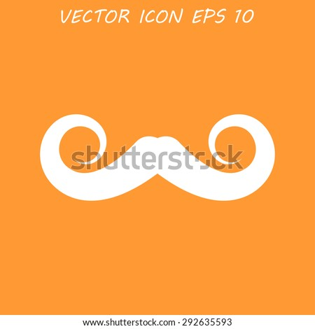 mustaches icon,  - stock photo