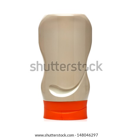 Mustard bottle - stock photo