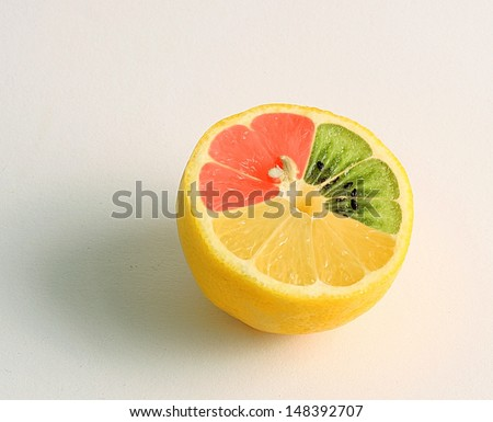 mutated lemon - stock photo