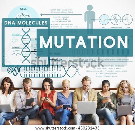 Mutation Biology Chemistry Genetic Scientific Concept - stock photo